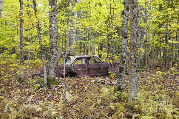 Wall Art - Photograph - Abandoned Car- Woodstock New Hampshire by Erin Paul Donovan