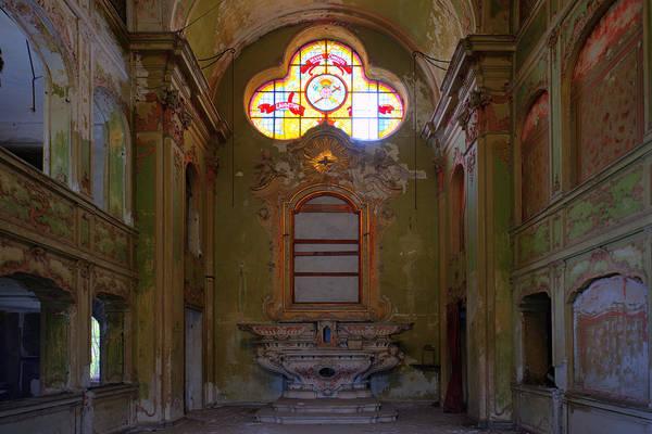 Photograph - Abandoned Chapel Of An Important Liguria Family I - Cappella Abbandonata Di Famiglia Ligure 1 by Enrico Pelos