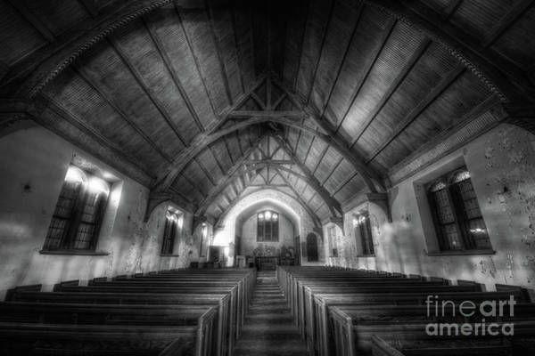 Wall Art - Photograph - Abandoned Church Bw by Michael Ver Sprill