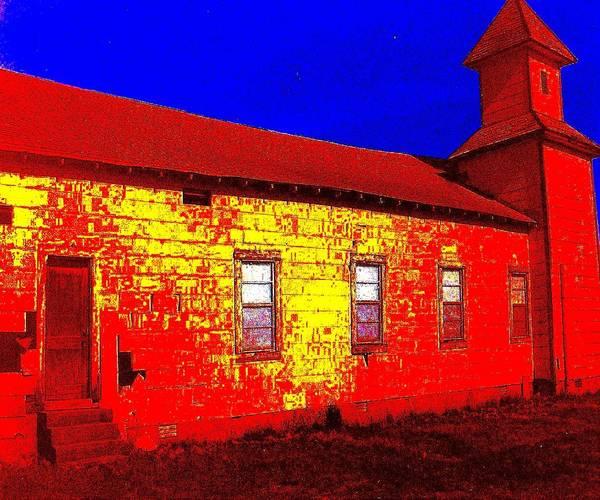 Digital Art - Abandoned Church by Robert Grubbs
