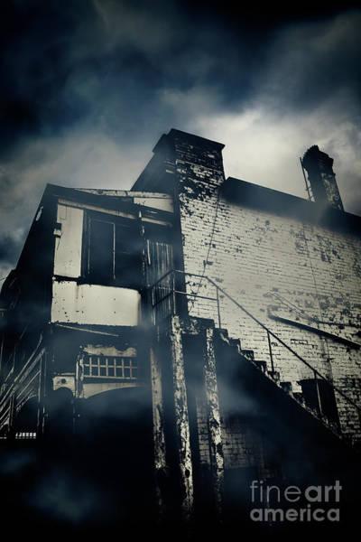 Photograph - Abandoned Creepy House At Night by Jorgo Photography - Wall Art Gallery
