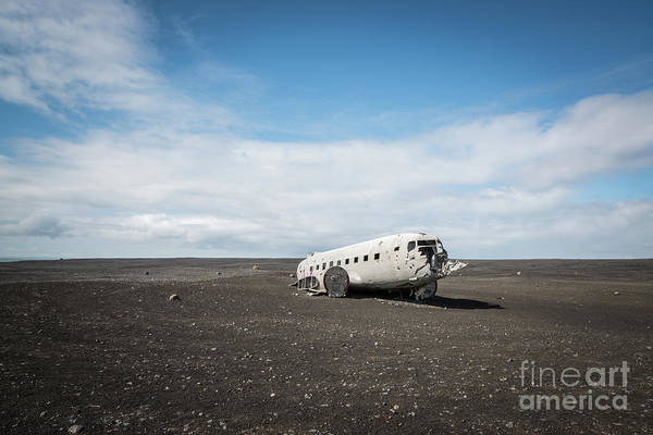 Wall Art - Photograph - Abandoned Dc 3 Plane In Iceland  by Michael Ver Sprill