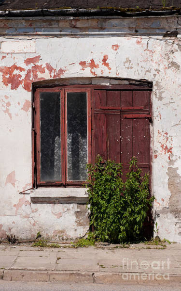 Wall Art - Photograph - Abandoned Dilapidated Old House Door And Window  by Arletta Cwalina