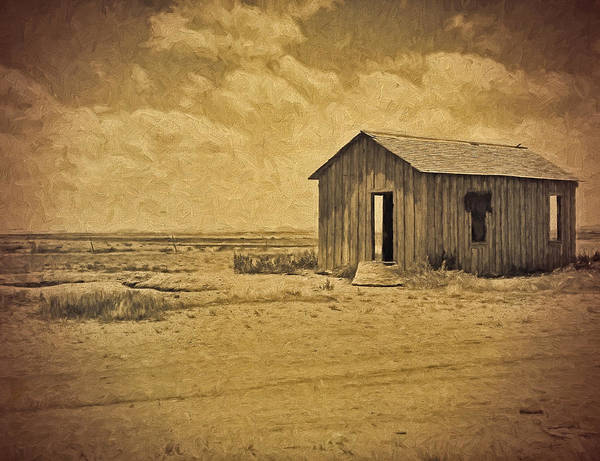Photograph - Abandoned Dust Bowl Home by Dave Bosse