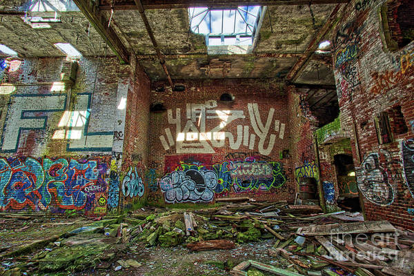 Photograph - Abandoned Factory Newport New Hampshire by Edward Fielding