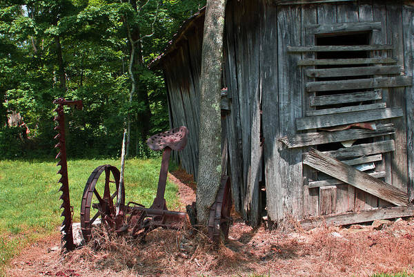Homesickness Photograph - Abandoned Farm Hay Cutter by Douglas Barnett