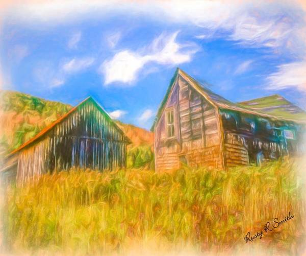 Digital Art - Abandoned Farm Northern New Hampshire by Rusty R Smith