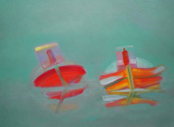 Painting - Abandoned Fishing Boats Tavira Portugal by Charles Stuart