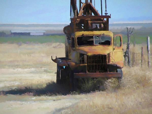 Digital Art - Abandoned Gmc Drill Rig by David King