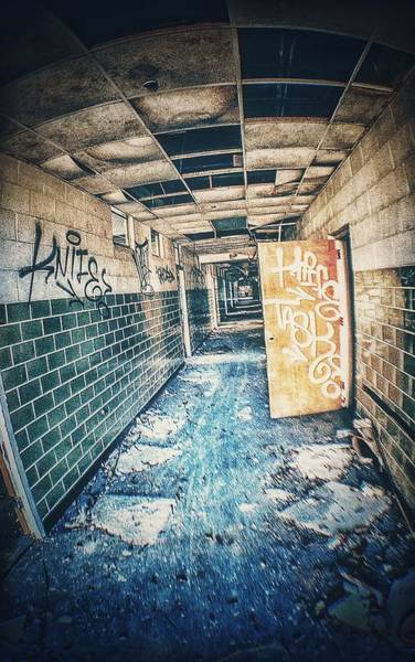 Photograph - Abandoned Hallway by Mike Dunn