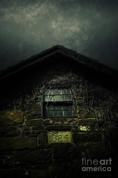 Attic Wall Art - Photograph - Abandoned Horror House With Creepy Attic Window by Jorgo Photography - Wall Art Gallery