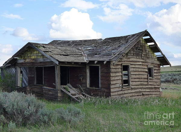 Photograph - Abandoned House At Bluestem by Charles Robinson