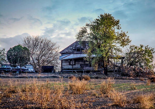 Photograph - Abandoned House With Vehicles by Gene Parks