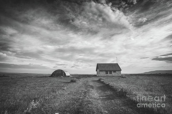 Road Side Photograph - Abandoned Iceland Bw  by Michael Ver Sprill