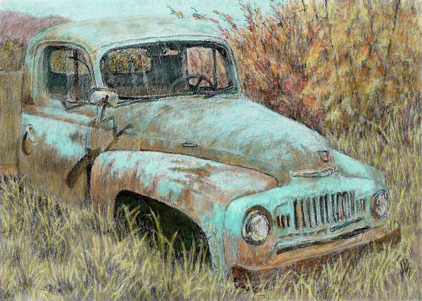 Old Truck Digital Art - Abandoned International by David King