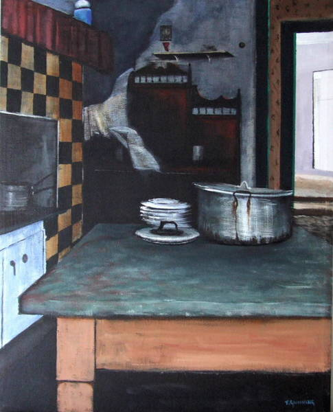 Dereliction Painting - Abandoned Kitchen by Tony Gunning