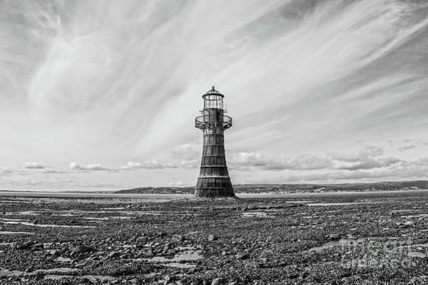 Photograph - Abandoned Light House Whiteford by Edward Fielding