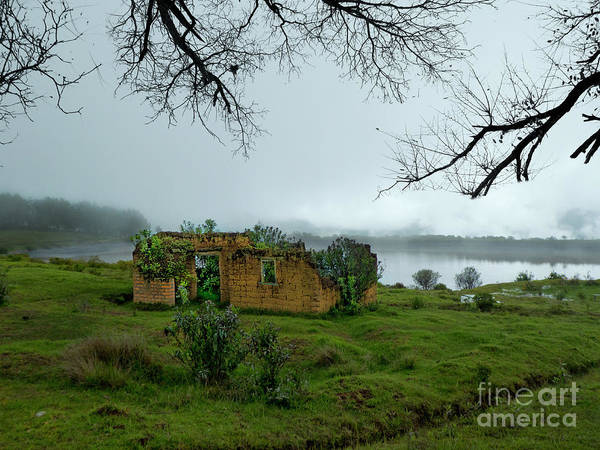 Mud House Photograph - Abandoned Mud Hut In The Fog In The Andes by Al Bourassa