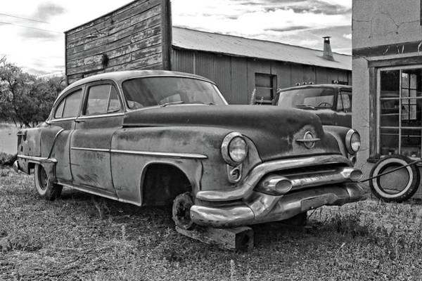 Photograph - Abandoned Oldsmobile Bw by David King
