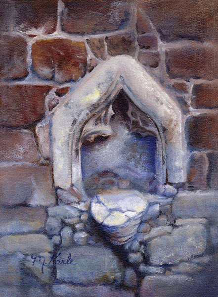 Painting - Abandoned Pedestal by Marsha Karle