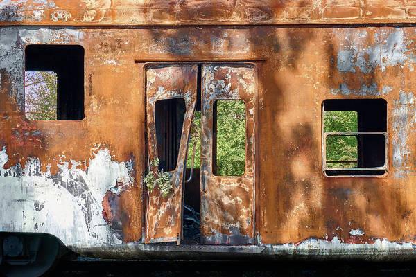 Junkyard Photograph - Abandoned Rail Car 3 by Jim Hughes