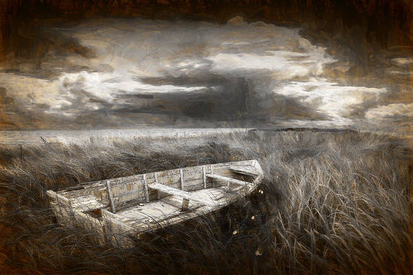 Photograph - Abandoned Row Boat On A Grassy Shore by Randall Nyhof