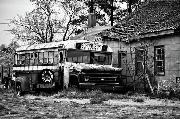 Mixed Media - Abandoned School Bus by Trish Tritz