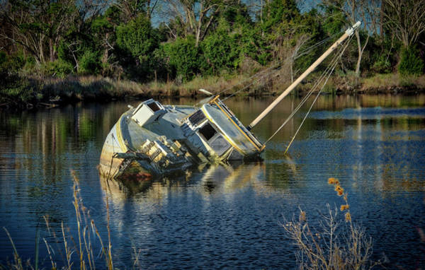 Photograph - Abandoned Ship by Donald Brown