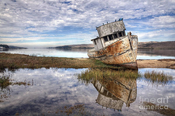 Photograph - Abandoned Ship by Eddie Yerkish