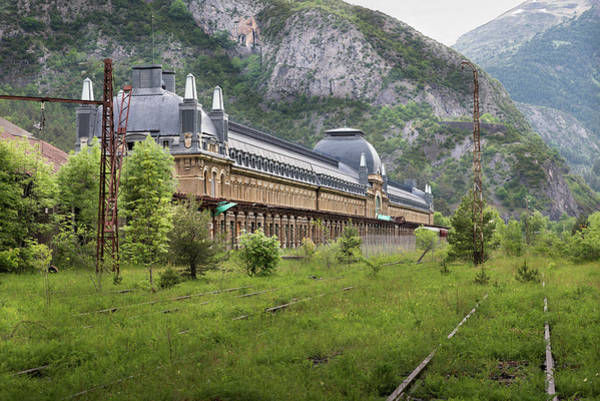 Wall Art - Photograph - Abandoned Side Of The Canfranc International Railway Station by RicardMN Photography