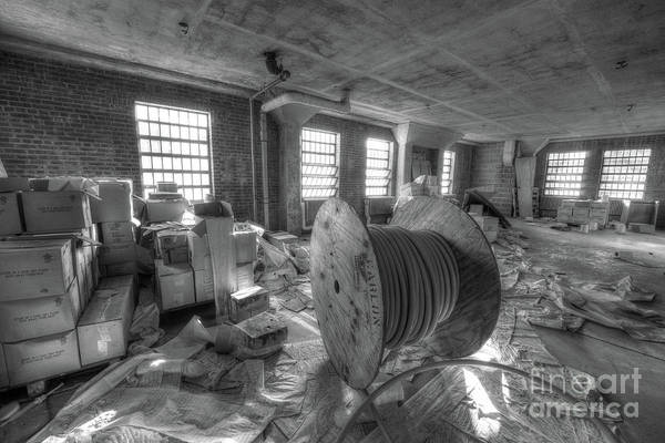 Wall Art - Photograph - Abandoned Spindle Bw by Michael Ver Sprill
