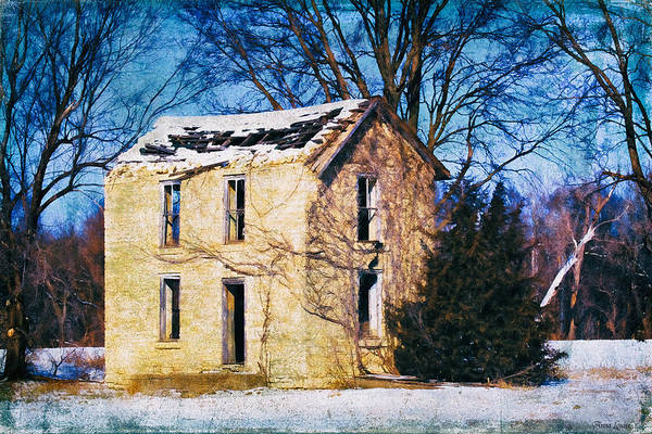 Photograph - Abandoned Stone House In Snow 2 by Anna Louise