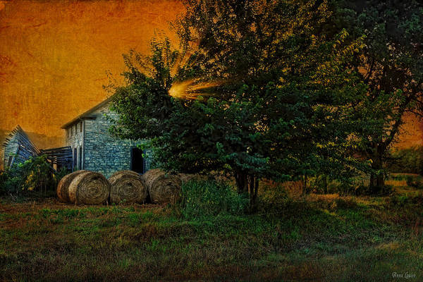 Photograph - Abandoned Stone House In Summer Evening by Anna Louise