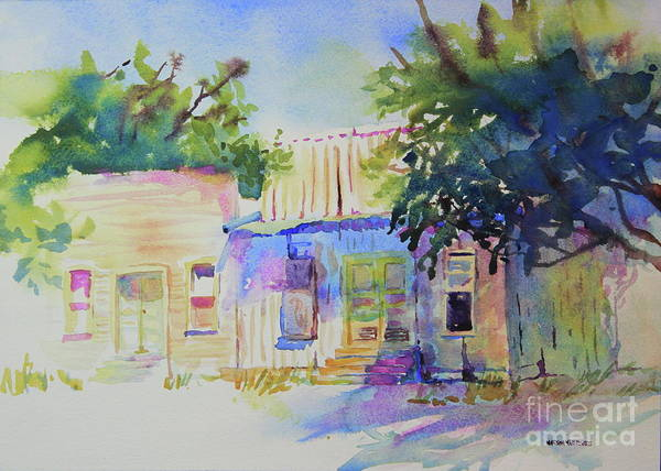 Central Texas Painting - Abandoned Store Fronts by Marsha Reeves
