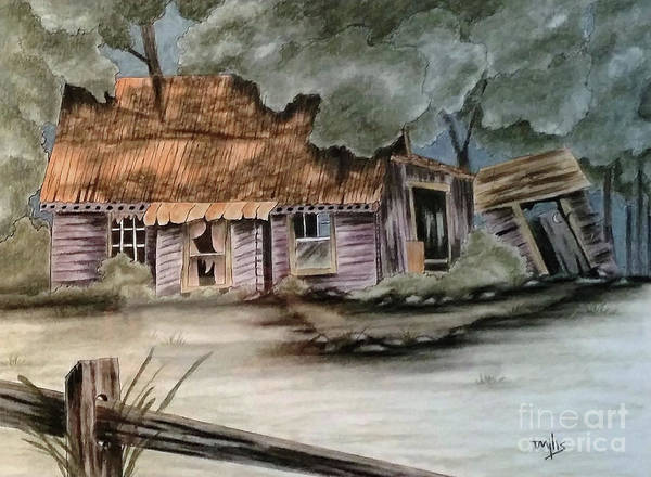 Homestead Drawing - Handyman Special by Terri Mills