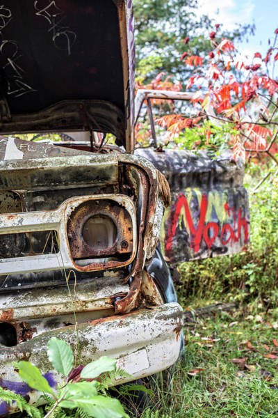 Wall Art - Photograph - Abandoned Truck With Spray Paint by Edward Fielding