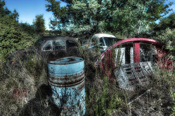 Photograph - Abandoned Vehicles - Veicoli Abbandonati  1 by Enrico Pelos