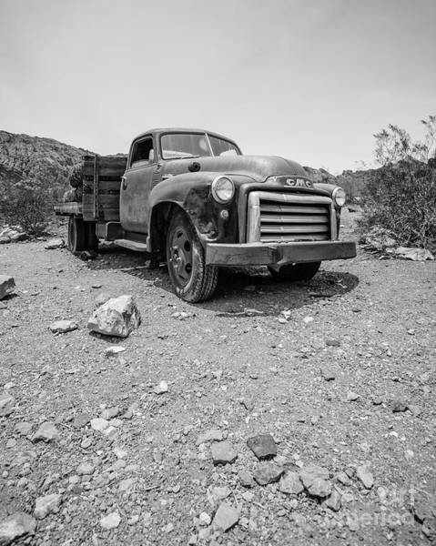 Wall Art - Photograph - Abandoned Vintage Gmc Truck In The Desert by Edward Fielding