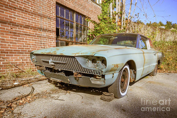 Photograph - Abandoned Vintage Old Car Weare New Hampshire by Edward Fielding
