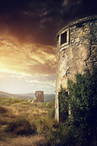 Wall Art - Photograph - Abandoned Windmills by Carlos Caetano