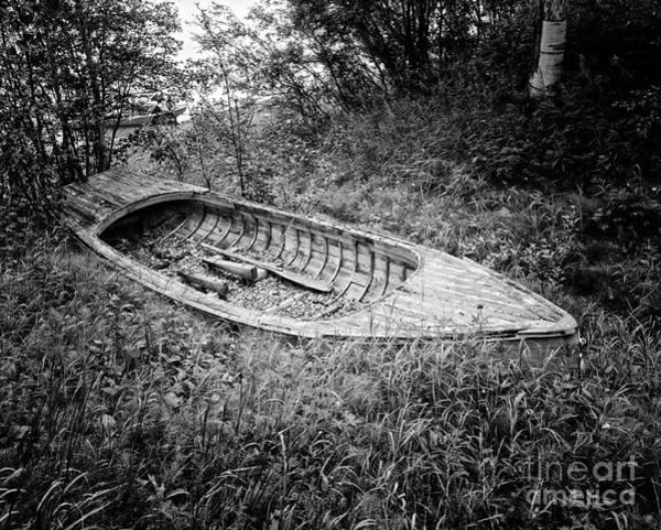 Abandon Ship Photograph - Abandoned Wooden Boat Alaska by Edward Fielding