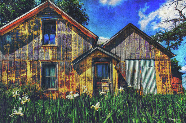 Photograph - Abandoned Yellow Farm House by Anna Louise