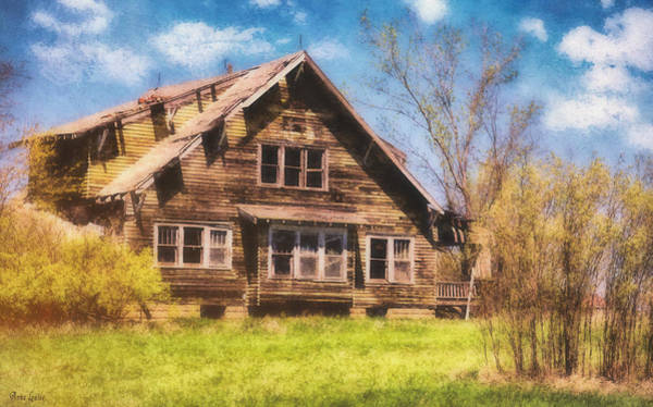 Digital Art - Abandoned Yellow House by Anna Louise