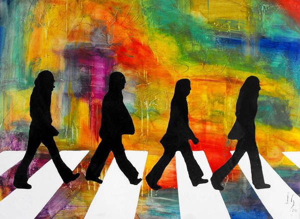 Musical Instrument Painting - Abbey Road by Ivan Guaderrama