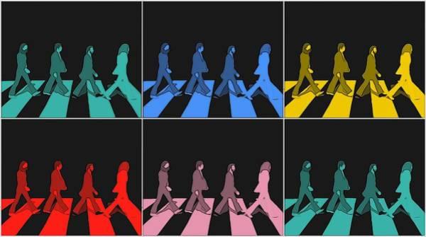 Classic Rock Mixed Media - Abbey Road Pop Art Panels by Dan Sproul