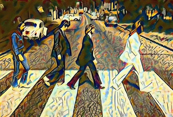 Wall Art - Painting - Abbey Road Watercolor by Bill Cannon