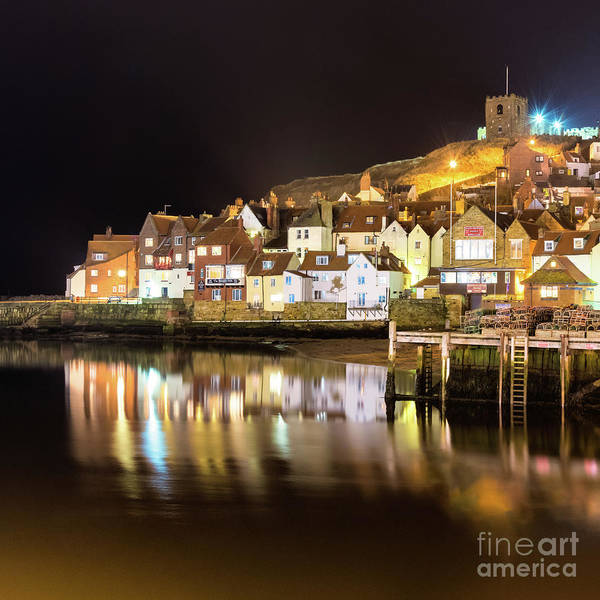 St. Mary Photograph - Abbey Wharf, Whitby  by Janet Burdon