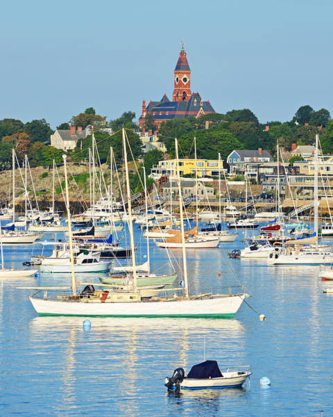 Abbot Hall Over Marblehead Harbor From Chandler Hovey Park Art Print