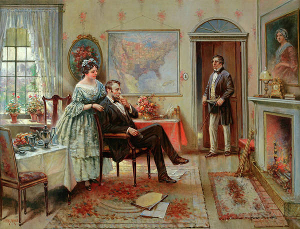 Moral Wall Art - Painting - Abe And Mary Todd Lincoln by Edward Percy Moran