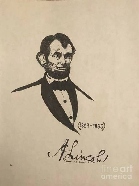 Abe Lincoln Drawing - Abe Lincoln by Pete Lester    Art Collector